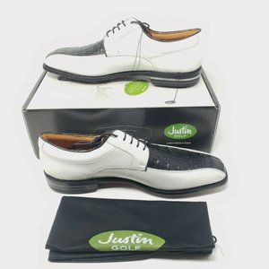 Justin Golf Shoes Classic Caiman Exotic Alligator